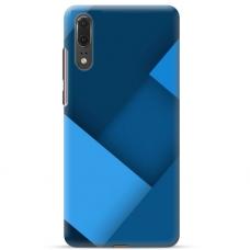 """Huawei P20 TPU dėklas unikaliu dizainu 1.0 mm """"u-case Airskin Blue design"""""""