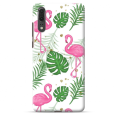 "Huawei P20 TPU dėklas unikaliu dizainu 1.0 mm ""u-case airskin Flamingos design''"