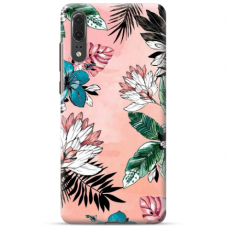 "Huawei P20 TPU dėklas unikaliu dizainu 1.0 mm ""u-case Airskin Flowers 1 design"""