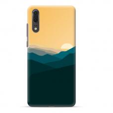 "Huawei P20 TPU dėklas unikaliu dizainu 1.0 mm ""u-case Airskin Mountains 2 design"""
