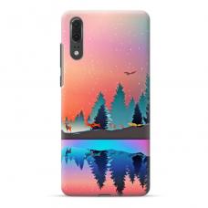 """Huawei P20 TPU dėklas unikaliu dizainu 1.0 mm """"u-case Airskin Nature 5 design"""""""