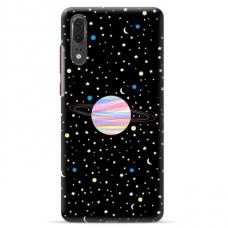 "Huawei P20 TPU dėklas unikaliu dizainu 1.0 mm ""u-case Airskin Planet design"""