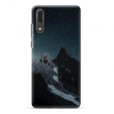 "Huawei P20 TPU dėklas unikaliu dizainu 1.0 mm ""u-case Airskin Mountains 1 design"""