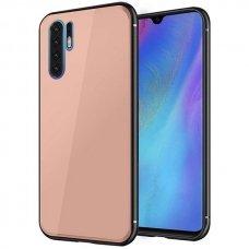 AKCIJA! Huawei p30 pro dėklas GLASS CASE rožinis
