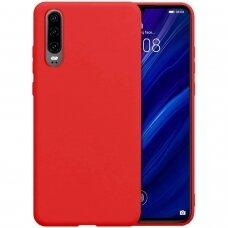 huawei p30 dėklas Liquid Silicone raudonas