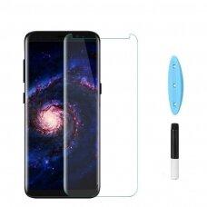 Akcija! Samsung S9 lenktas 5D grūdintas apsauginis stiklas UV glue