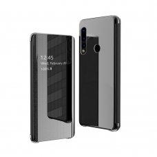 Akcija! Huawei P30 lite atverčiamas dėklas Flip View veidrodiniu-permatomu dangteliu juodas