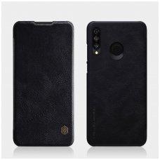 Huawei P30 Lite Atverčiamas dėklas Nillkin QIN TIKRA ODA Juodas