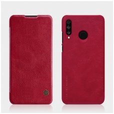 Huawei P30 Lite Atverčiamas dėklas Nillkin QIN TIKRA ODA Raudonas