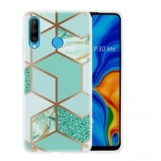 Huawei P30 lite Cosmo Marble silicon dizainas 2