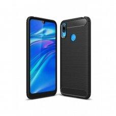 Akcija! Huawei Y7 2019 / y7 prime 2019 dėklas carbon lux silikonas juodas