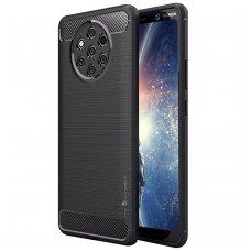 Nokia 9 pureview dėklas carbon lux silikonas juodas