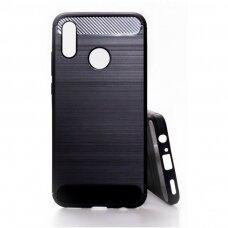Akcija! huawei p smart z dėklas carbon lux silikonas juodas