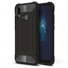 Huawei P20 Lite dėklas Hybrid Armor  TPU+PC plastikas juodas