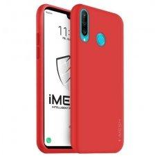 """Huawei p30 lite dėklas """"Liquid silicon""""  silikonas raudonas"""