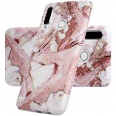 Huawei p30 lite dėklas Marble TPU rožinis