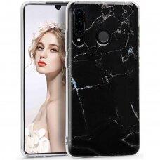 Huawei p30 lite dėklas Marble TPU juodas
