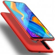 Huawei p30 lite dėklas X-LEVEL GUARDIAN silikoninis raudonas