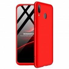 Samsung galaxy a40 HURTEL dėklas dvipusis 360 plastikas raudonas