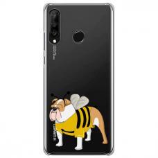 "Huawei P30 Lite TPU dėklas unikaliu dizainu 1.0 mm ""u-case Airskin Doggo 1 design"""