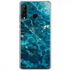 "Huawei P30 Lite TPU dėklas unikaliu dizainu 1.0 mm ""u-case Airskin Marble 2 design"""