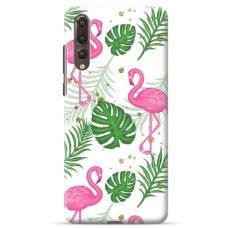 "Huawei P20 pro TPU dėklas unikaliu dizainu 1.0 mm ""u-case airskin Flamingos design''"