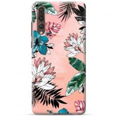 "Huawei P20 pro TPU dėklas unikaliu dizainu 1.0 mm ""u-case Airskin Flowers 1 design"""