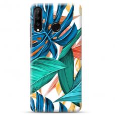 """Huawei P30 Lite TPU dėklas unikaliu dizainu 1.0 mm """"u-case Airskin Leaves design"""""""