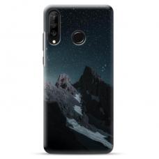 "Huawei P30 Lite TPU dėklas unikaliu dizainu 1.0 mm ""u-case Airskin Mountains 1 design"""