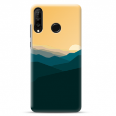 "Huawei P30 Lite TPU dėklas unikaliu dizainu 1.0 mm ""u-case Airskin Mountains 2 design"""