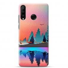 """Huawei P30 Lite TPU dėklas unikaliu dizainu 1.0 mm """"u-case Airskin Nature 5 design"""""""