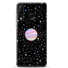 "Huawei P40 Lite E TPU dėklas unikaliu dizainu 1.0 mm ""u-case Airskin Planet design"""