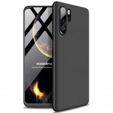 Huawei Mate 20 pro HURTEL dėklas dvipusis 360 plastikas juodas