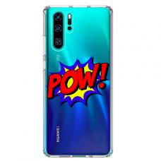 """Huawei P30 pro TPU DĖKLAS UNIKALIU DIZAINU 1.0 MM 1.0 mm """"u-case airskin POW design"""""""