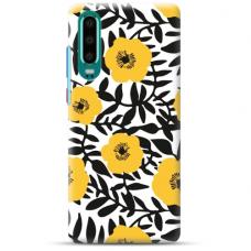 "Huawei P30 TPU DĖKLAS UNIKALIU DIZAINU 1.0 MM 1.0 mm ""u-case airskin Flowers 2 design"""