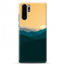 "Huawei P30 pro TPU dėklas unikaliu dizainu 1.0 mm ""u-case airskin Mountains 2 design"""