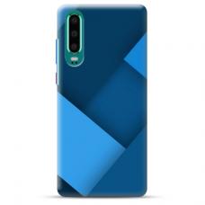 """Huawei P30 TPU dėklas unikaliu dizainu 1.0 mm """"u-case Airskin Blue design"""""""
