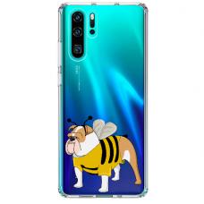 "Huawei P30 pro TPU dėklas unikaliu dizainu 1.0 mm ""u-case Airskin Doggo 1 design"""