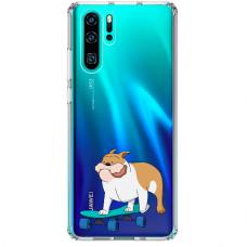 "Huawei P30 pro TPU dėklas unikaliu dizainu 1.0 mm ""u-case Airskin Doggo 2 design"""