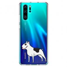 "Huawei P30 pro TPU dėklas unikaliu dizainu 1.0 mm ""u-case Airskin Doggo 3 design"""