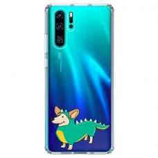 "Huawei P30 pro TPU dėklas unikaliu dizainu 1.0 mm ""u-case Airskin Doggo 4 design"""