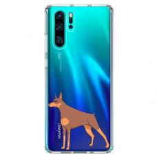 "Huawei P30 pro TPU dėklas unikaliu dizainu 1.0 mm ""u-case Airskin Doggo 6 design"""