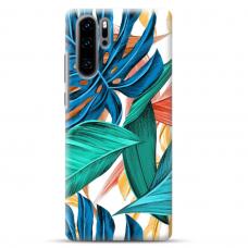"Huawei P30 pro TPU dėklas unikaliu dizainu 1.0 mm ""u-case airskin Leaves design"""