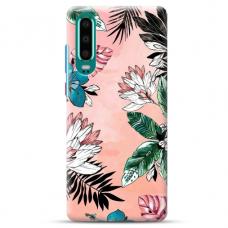 "Huawei P30 TPU dėklas unikaliu dizainu 1.0 mm ""u-case Airskin Flowers 1 design"""