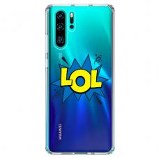 "Huawei P30 pro TPU dėklas unikaliu dizainu 1.0 mm ""u-case Airskin LOL design"""