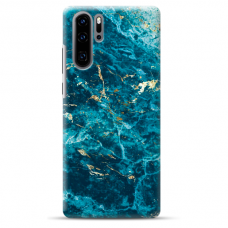 "Huawei P30 pro TPU dėklas unikaliu dizainu 1.0 mm ""u-case Airskin Marble 2 design"""