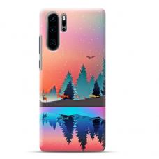 "Huawei P30 pro TPU dėklas unikaliu dizainu 1.0 mm ""u-case airskin Nature 5 design"""