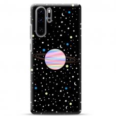 "Huawei P30 pro TPU dėklas unikaliu dizainu 1.0 mm ""u-case airskin Planet design"""