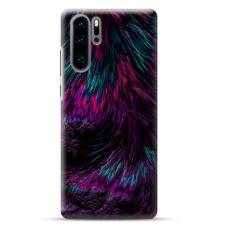 "Huawei P30 pro TPU dėklas unikaliu dizainu 1.0 mm ""u-case airskin Feather design"""