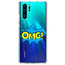"Huawei P30 pro TPU dėklas unikaliu dizainu 1.0 mm ""u-case Airskin OMG design"""